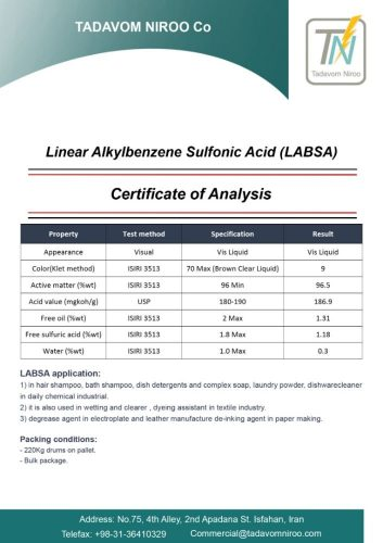 LABSA specification sheet